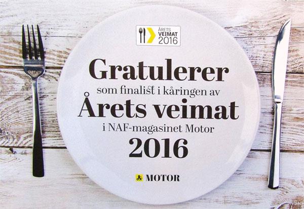 Finalist i kåringen - Veimat 2016